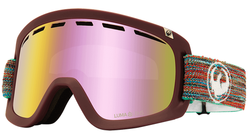 Dragon D1 OTG Goggles + Bonus Lens - Shred Together LumaLens Pink Ion + LL Dark Smoke - 2021