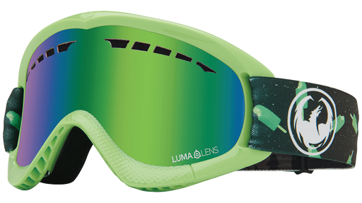 Dragon DXS Kids Goggles - Cosmic Pop LumaLens Green Ion - 2021