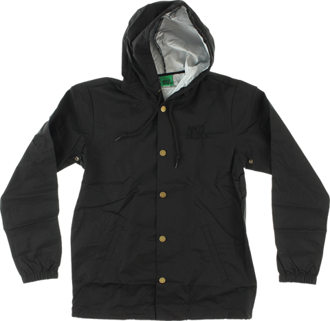 Ah Black Hero Emblem Hooded Jacket S-Blk