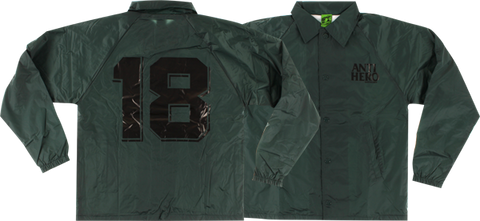 Ah Black League Coaches Jacket L-Dark Green