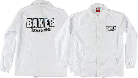Baker Dubs Coaches Jacket Xl-Wht/Blk