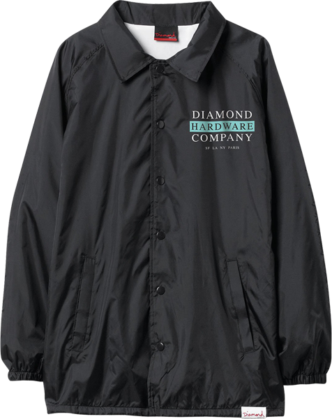Diamond Hardware Stack Coach Jacket M-Blk