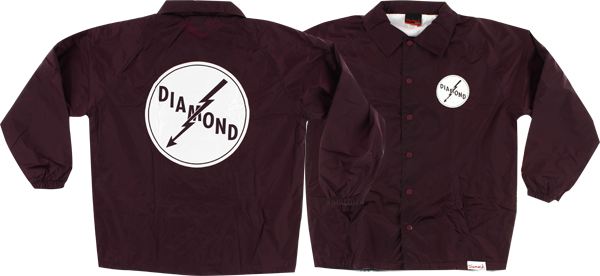 Diamond Lightning Coaches Jacket Xl-Burgundy