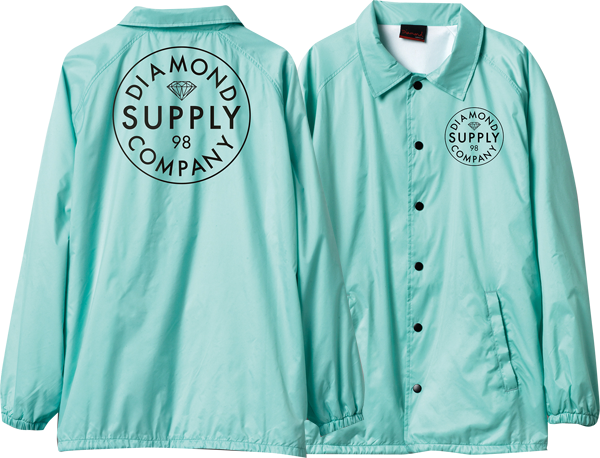 Diamond Stamped Coaches Jacket L-Diamond Blu/Wht