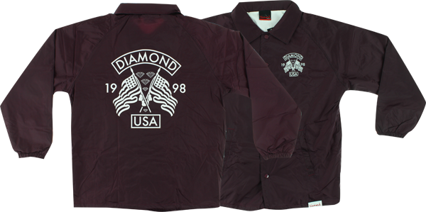 Diamond Usa Coaches Jacket L-Burgundy