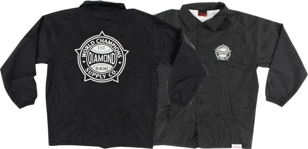 Diamond World Renowned Coaches Jacket Xl-Black