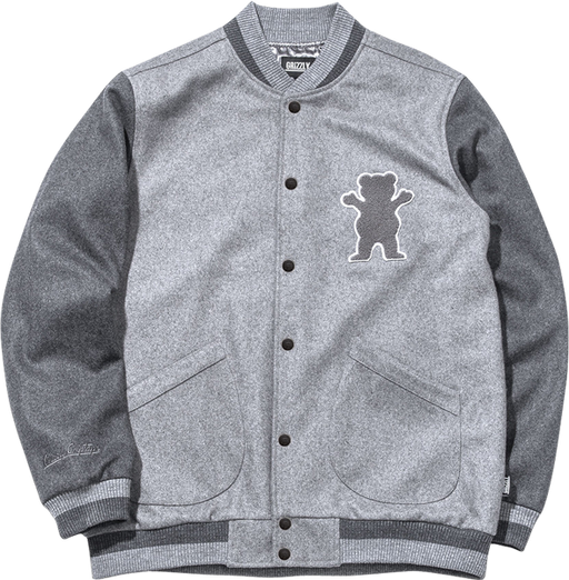 Grizzly Silvertip Wool Varsity Jacket S-Grey