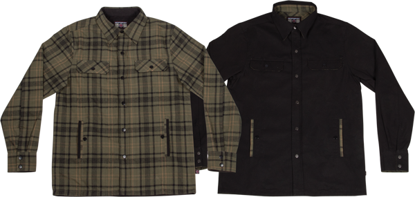 Ind Switch Reversible Overshirt Jacket S-Grn Plaid