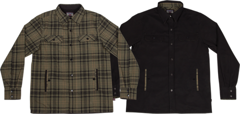 Ind Switch Reversible Overshirt Jacket L-Grn Plaid