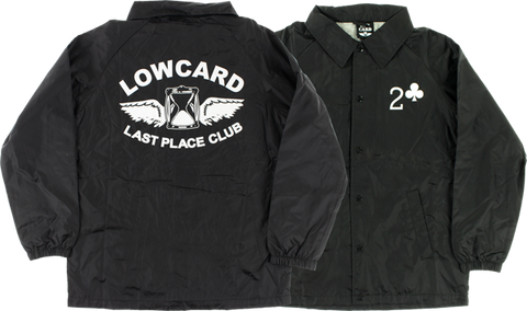 Lowcard Last Place Club Coaches Jacket Xl-Black