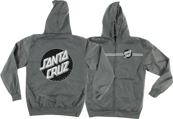 Sc Dot Hooded Windbreaker L-Charcoal