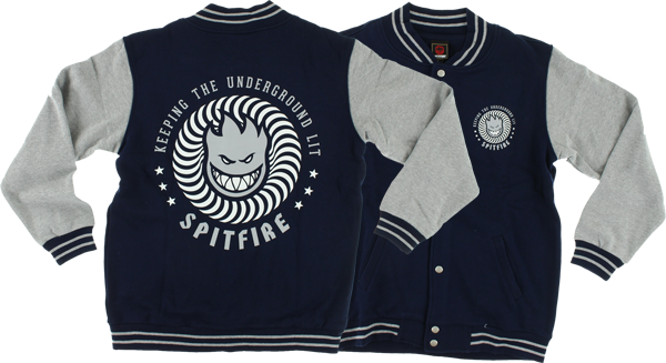Sf Ktul Varsity Jacket Xl-Navy/Heather