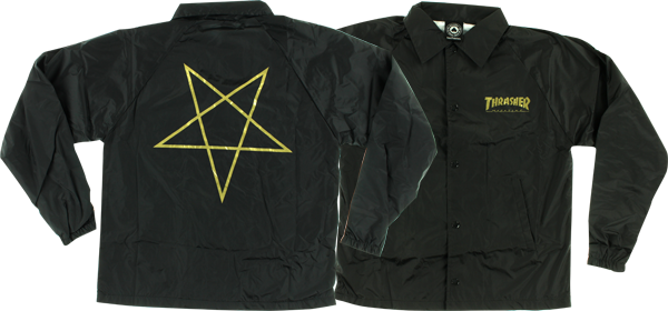 Thrasher Pentagram Coach Jacket M-Blk/Gold