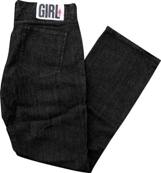 Girl Jean 26-Black Rinse Fitted