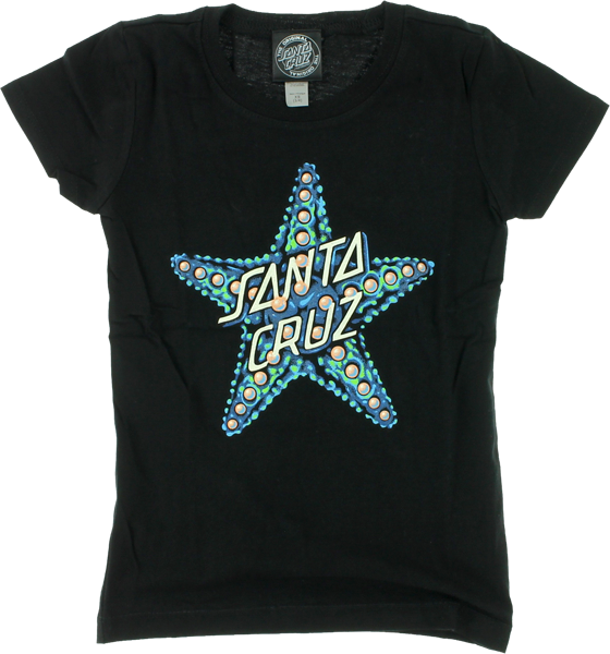 Sc Starfish Fitted Girls Ss M-Black