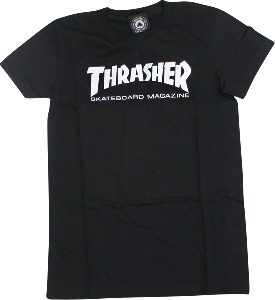 Thrasher Mag Logo Girls Ss L-Black
