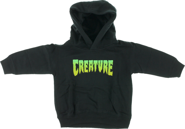Creature Logo Toddler Hd/Swt 5-6T-Black