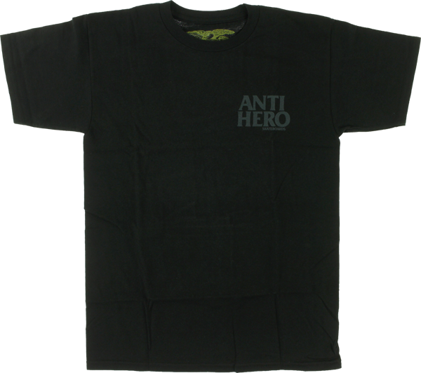 Ah Lil Black Hero Ss L-Blk/Grey