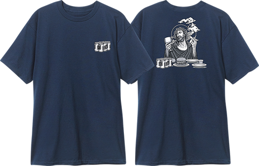 Blind Heritage Smoking Jesus Ss Xl-Navy