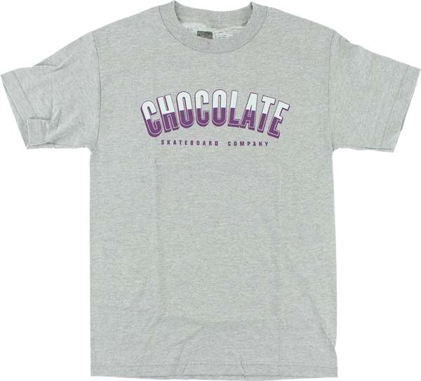 Choc Athletics Ss S-Heather Grey/Pur