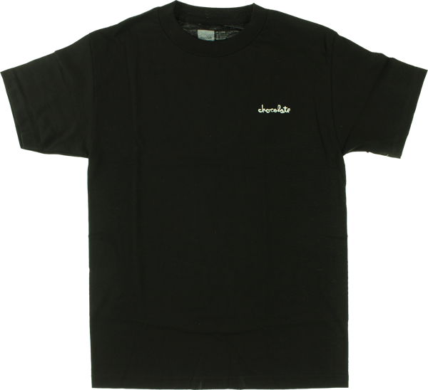 Choc Chunk Embroidered Ss S-Black
