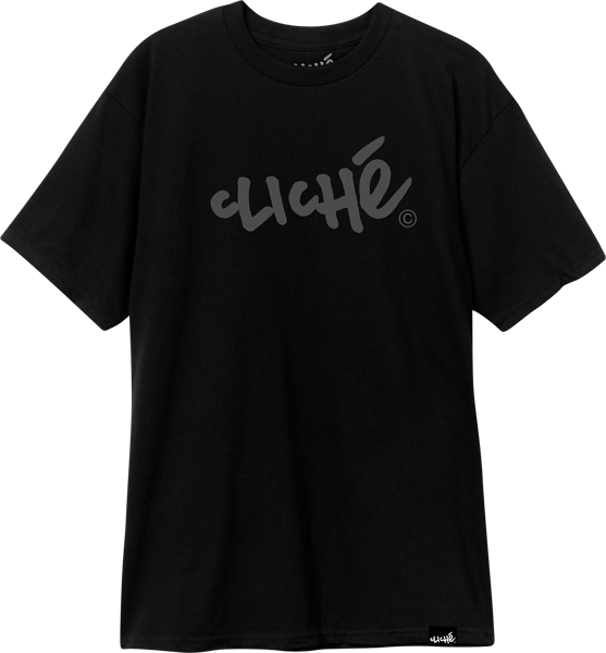 Cliche Handwritten Ss Xl-Black