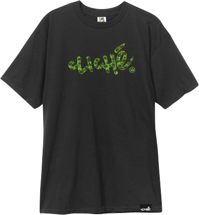 Cliche Handwritten Leaf Camo Ss Xl-Black