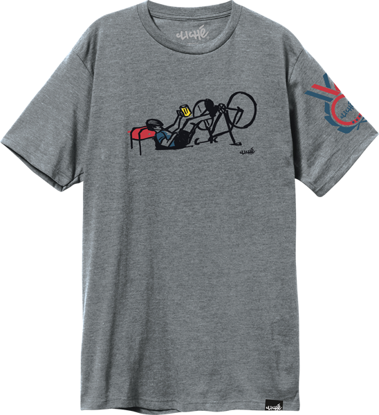 Cliche Tour De Velo Ss L-Dark Heather Grey