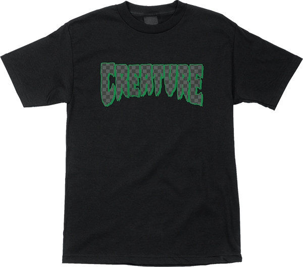 Creature Logo Check Ss S-Black