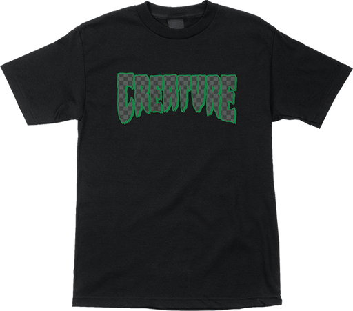 Creature Logo Check Ss M-Black