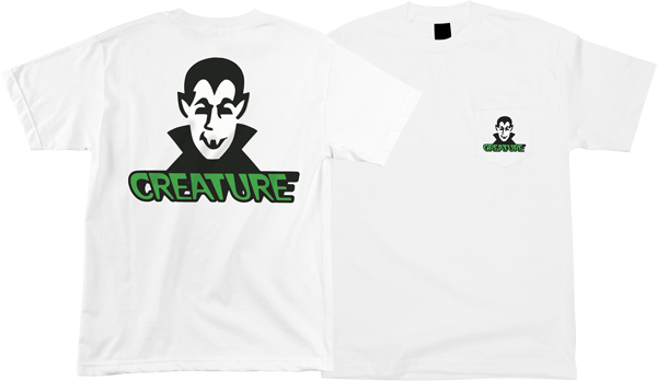 Creature Vamp Pocket Ss M-White