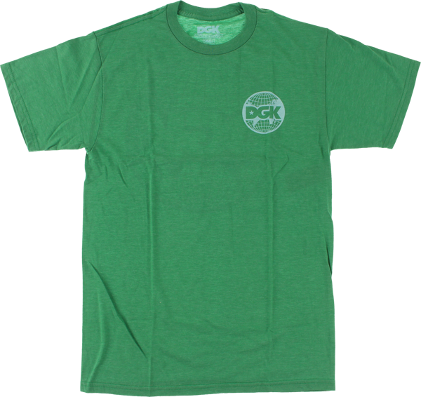 Dgk World Wide Ss Xl-Kelly Green Heather