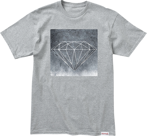 Diamond Chalk Ss Xl-Heather Grey