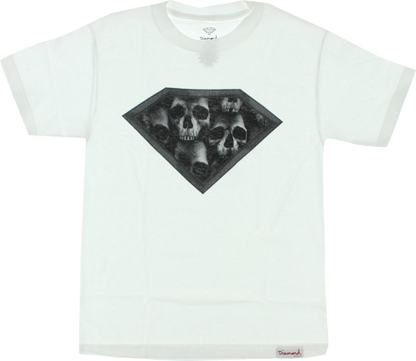 Diamond Dmnd Skulls Ss M-White