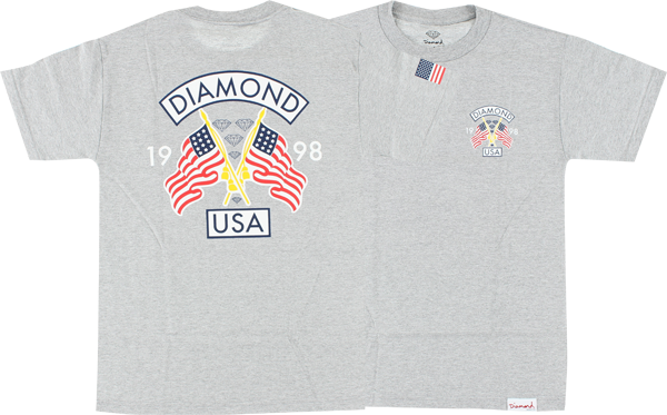 Diamond Diamond Usa Ss L-Heather Grey