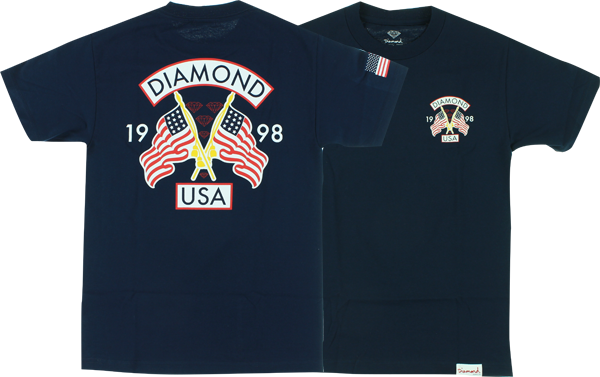 Diamond Diamond Usa Ss Xl-Navy