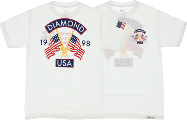 Diamond Diamond Usa Ss Xxl-White