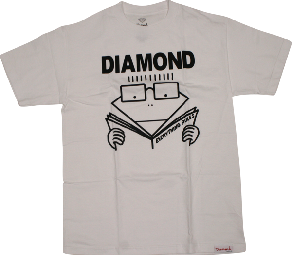 Diamond Everything Rules Ss Xl-White