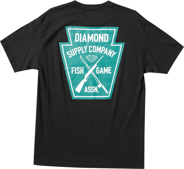 Diamond Fish & Game Crest Ss S-Black