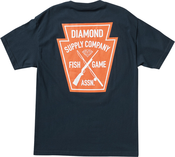 Diamond Fish & Game Crest Ss Xl-Navy