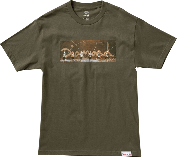 Diamond Gone Fishing Ss S-Military Green