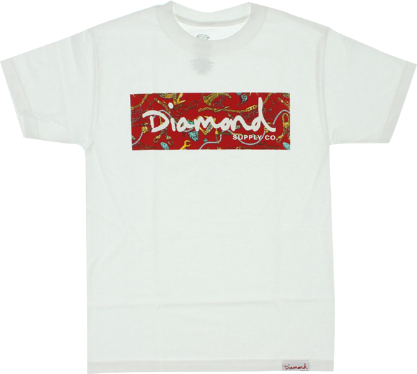 Diamond Low Life Box Ss M-Wht/Red