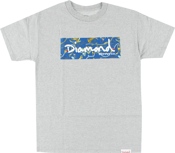 Diamond Low Life Box Ss Xl-Heather Grey