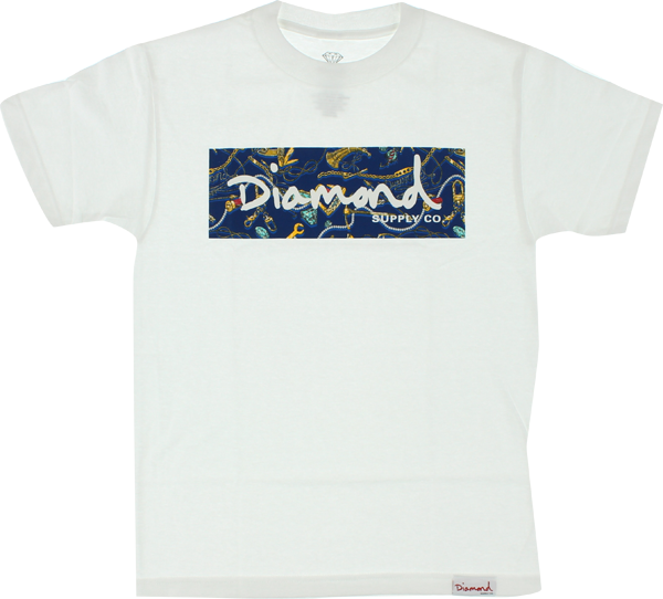 Diamond Low Life Box Ss Xl-Wht/Navy