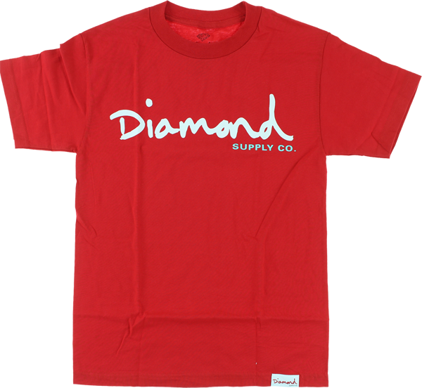 Diamond Og Script Ss L-Red/Wht