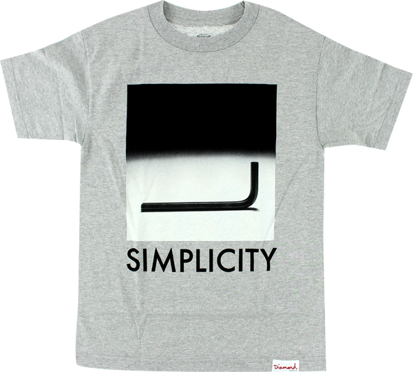 Diamond Simplicity Ss Xl-Heather Grey