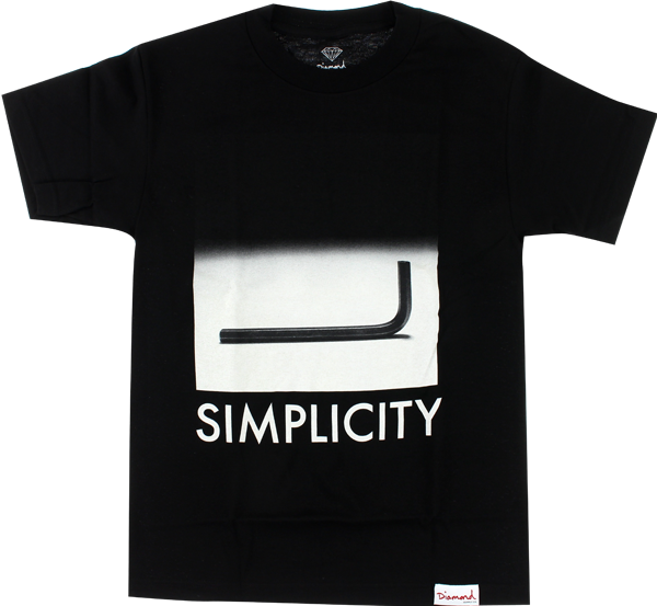 Diamond Simplicity Ss Xxl-Black