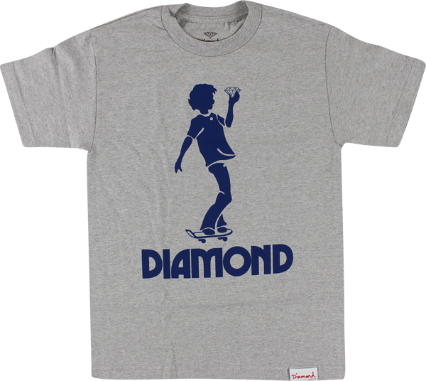 Diamond Skate Kid Ss Xl-Heather Grey