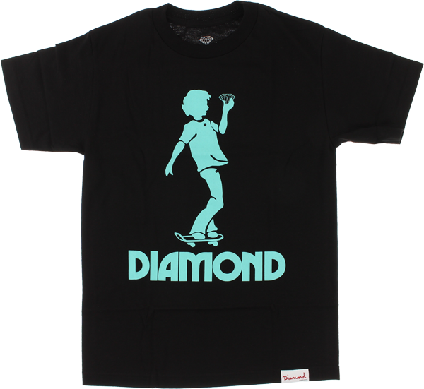 Diamond Skate Kid Ss Xl-Black