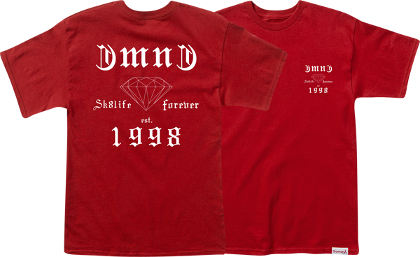 Diamond Skate Life Ss Xxl-Red